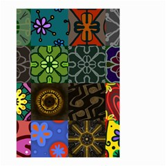 Digitally Created Abstract Patchwork Collage Pattern Small Garden Flag (two Sides)