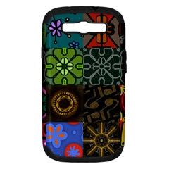 Digitally Created Abstract Patchwork Collage Pattern Samsung Galaxy S Iii Hardshell Case (pc+silicone)