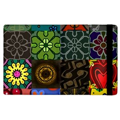 Digitally Created Abstract Patchwork Collage Pattern Apple Ipad 2 Flip Case