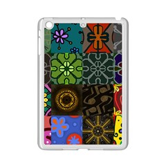 Digitally Created Abstract Patchwork Collage Pattern Ipad Mini 2 Enamel Coated Cases