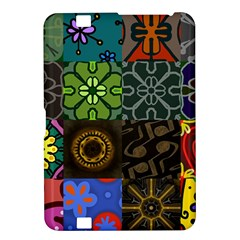 Digitally Created Abstract Patchwork Collage Pattern Kindle Fire HD 8.9