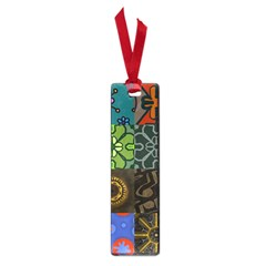 Digitally Created Abstract Patchwork Collage Pattern Small Book Marks
