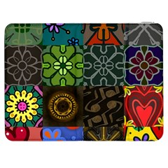 Digitally Created Abstract Patchwork Collage Pattern Samsung Galaxy Tab 7  P1000 Flip Case