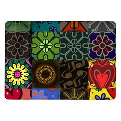 Digitally Created Abstract Patchwork Collage Pattern Samsung Galaxy Tab 10 1  P7500 Flip Case