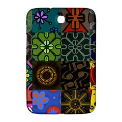 Digitally Created Abstract Patchwork Collage Pattern Samsung Galaxy Note 8 0 N5100 Hardshell Case