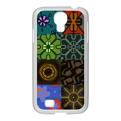 Digitally Created Abstract Patchwork Collage Pattern Samsung Galaxy S4 I9500/ I9505 Case (white)