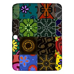 Digitally Created Abstract Patchwork Collage Pattern Samsung Galaxy Tab 3 (10.1 ) P5200 Hardshell Case