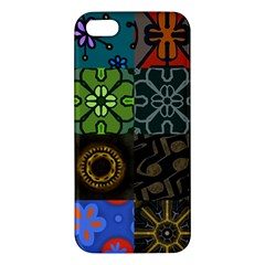 Digitally Created Abstract Patchwork Collage Pattern Iphone 5s/ Se Premium Hardshell Case