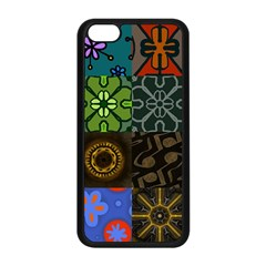 Digitally Created Abstract Patchwork Collage Pattern Apple Iphone 5c Seamless Case (black)