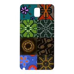 Digitally Created Abstract Patchwork Collage Pattern Samsung Galaxy Note 3 N9005 Hardshell Back Case