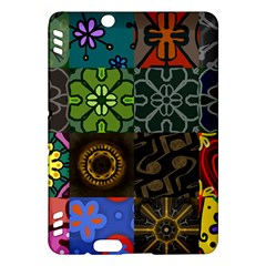 Digitally Created Abstract Patchwork Collage Pattern Kindle Fire Hdx Hardshell Case