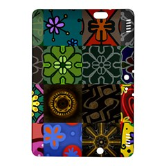 Digitally Created Abstract Patchwork Collage Pattern Kindle Fire HDX 8.9  Hardshell Case