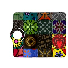 Digitally Created Abstract Patchwork Collage Pattern Kindle Fire Hdx 8 9  Flip 360 Case