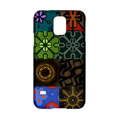 Digitally Created Abstract Patchwork Collage Pattern Samsung Galaxy S5 Hardshell Case