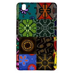 Digitally Created Abstract Patchwork Collage Pattern Samsung Galaxy Tab Pro 8 4 Hardshell Case
