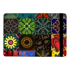 Digitally Created Abstract Patchwork Collage Pattern Samsung Galaxy Tab Pro 10 1  Flip Case