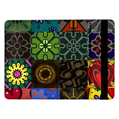Digitally Created Abstract Patchwork Collage Pattern Samsung Galaxy Tab Pro 12.2  Flip Case