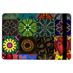 Digitally Created Abstract Patchwork Collage Pattern iPad Air Flip