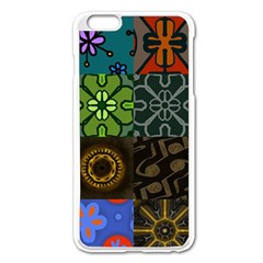 Digitally Created Abstract Patchwork Collage Pattern Apple Iphone 6 Plus/6s Plus Enamel White Case