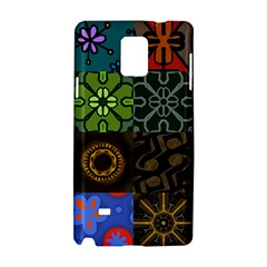 Digitally Created Abstract Patchwork Collage Pattern Samsung Galaxy Note 4 Hardshell Case