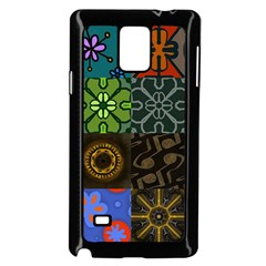 Digitally Created Abstract Patchwork Collage Pattern Samsung Galaxy Note 4 Case (black)
