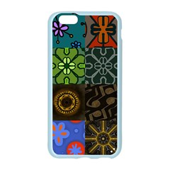 Digitally Created Abstract Patchwork Collage Pattern Apple Seamless iPhone 6/6S Case (Color)