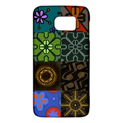 Digitally Created Abstract Patchwork Collage Pattern Galaxy S6