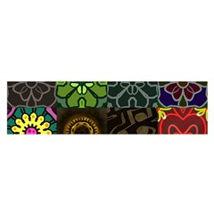 Digitally Created Abstract Patchwork Collage Pattern Satin Scarf (oblong)