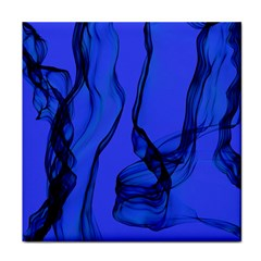 Blue Velvet Ribbon Background Tile Coasters