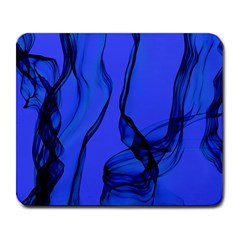 Blue Velvet Ribbon Background Large Mousepads