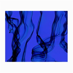 Blue Velvet Ribbon Background Small Glasses Cloth