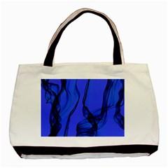 Blue Velvet Ribbon Background Basic Tote Bag