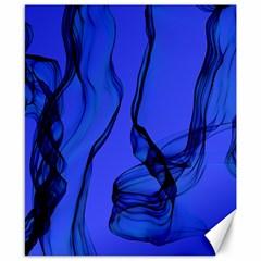 Blue Velvet Ribbon Background Canvas 8  X 10