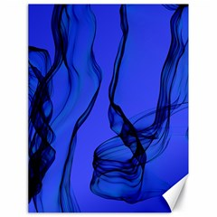 Blue Velvet Ribbon Background Canvas 18  X 24