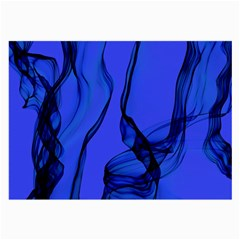 Blue Velvet Ribbon Background Large Glasses Cloth