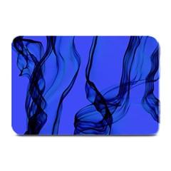 Blue Velvet Ribbon Background Plate Mats