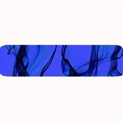 Blue Velvet Ribbon Background Large Bar Mats