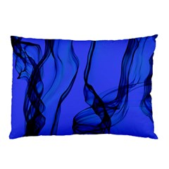 Blue Velvet Ribbon Background Pillow Case