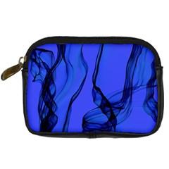 Blue Velvet Ribbon Background Digital Camera Cases