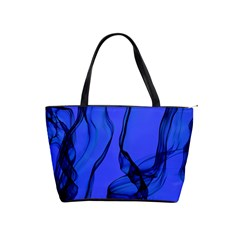 Blue Velvet Ribbon Background Shoulder Handbags