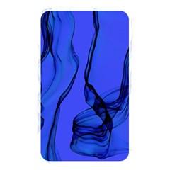 Blue Velvet Ribbon Background Memory Card Reader