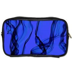 Blue Velvet Ribbon Background Toiletries Bags 2-Side