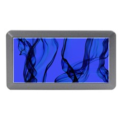 Blue Velvet Ribbon Background Memory Card Reader (Mini)