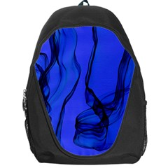 Blue Velvet Ribbon Background Backpack Bag