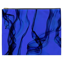 Blue Velvet Ribbon Background Cosmetic Bag (XXXL)