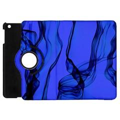 Blue Velvet Ribbon Background Apple Ipad Mini Flip 360 Case