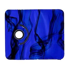 Blue Velvet Ribbon Background Galaxy S3 (flip/folio)