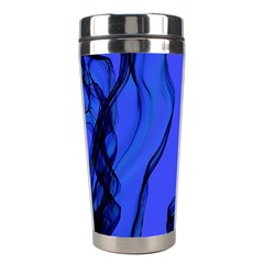 Blue Velvet Ribbon Background Stainless Steel Travel Tumblers