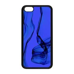 Blue Velvet Ribbon Background Apple iPhone 5C Seamless Case (Black)