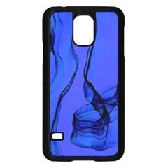Blue Velvet Ribbon Background Samsung Galaxy S5 Case (black)